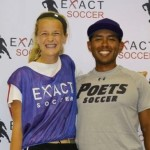 Gena with Coach Moraga from Whittier College