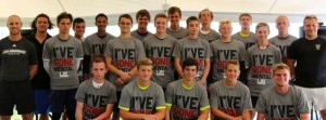 Gus Cope pictured with the goalkeepers from EXACT's Academic 50 ID Camp in Chicago