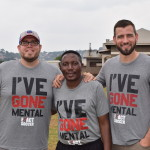 (From left): Fields of Dreams Uganda staff members Michael Warneke, Jonathan Ssembambulide, and Jeff Oleck.