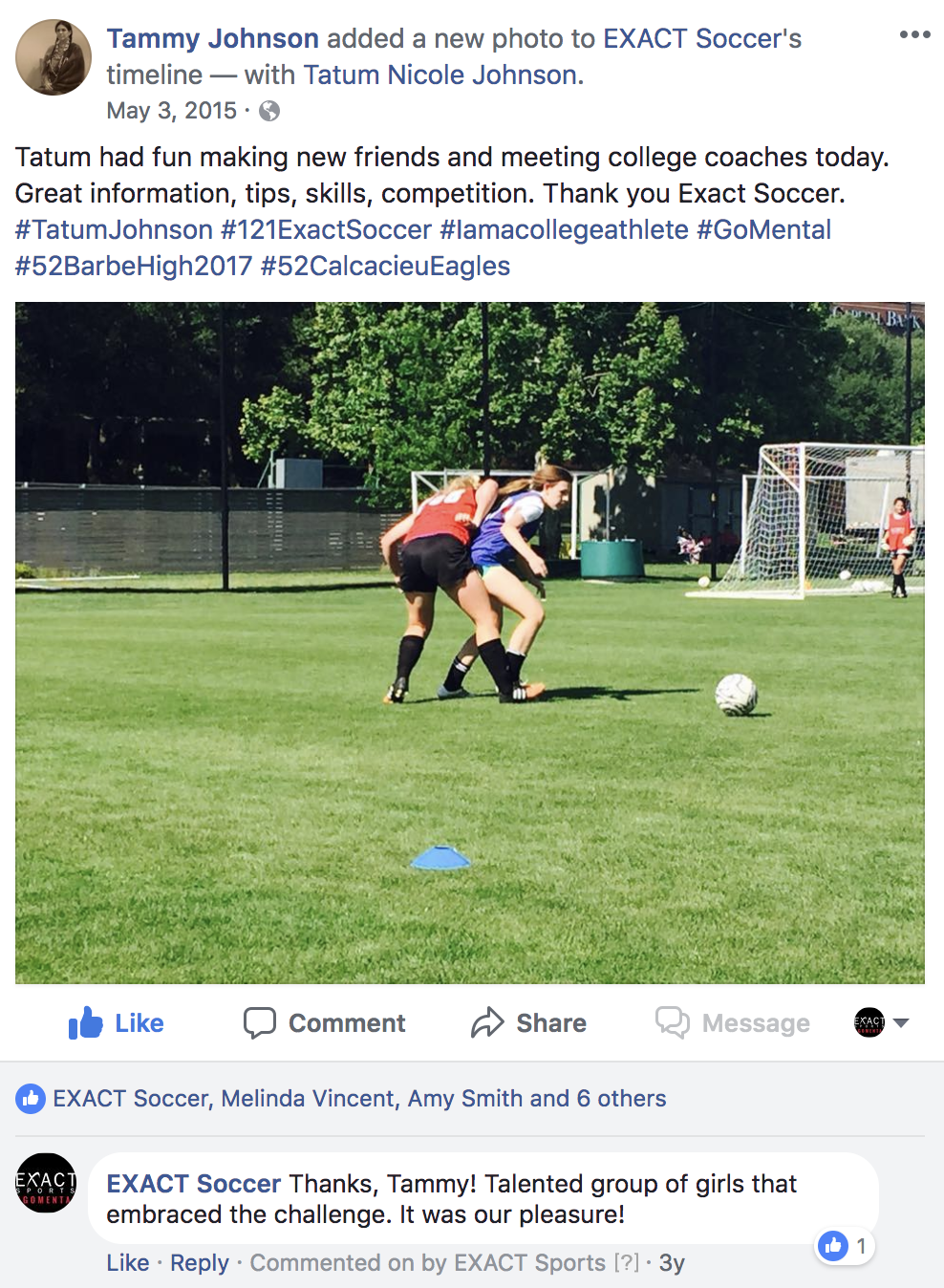 08c4de22a EXACT ID Camp Reviews  Mom thanks EXACT Soccer for great camp day